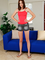 Budding American Blaire Ivory is still getting used to her..