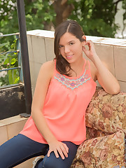 Super slender coed Eliza Gardenia is an amateur that's just..
