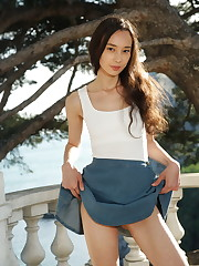 Djessy loves showing off her lean and slender body, and cute,..