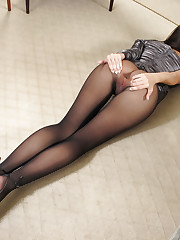 Baby wears awesome silk pantyhose