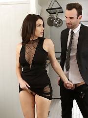 Alex Legend and Valentina Nappi are dressed in their..