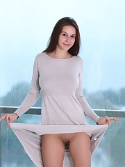 Newcomer Ame flaunts her nubile body as she poses in the..