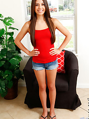 American cutie Lucy Doll is a sweet brunette with a huge..