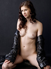 Muslan bares her nubile body with erect nipples and pink pussy..