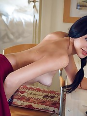 Sultana takes off her clothes and stimulates her pussy