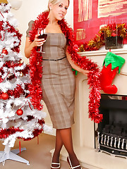 Your Gorgeous blonde secretary wishes you a happy xmas as..