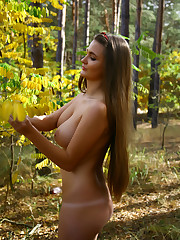 Newcomer Sanya bares her naked body and large tits as she..