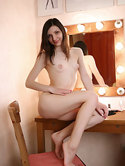 Newcomer Tamara I displays her nubile body and tight pussy in..