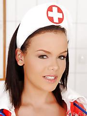 Deviant nurse fucks herself good!