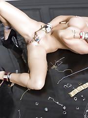 Gorgeous busty blonde, Dyanna Lauren, is a erotic fantasy..