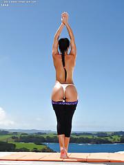 Yoga honey poses nude