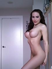 Katie Banks selfshots of her Canada Rocks bikini!