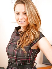 Kimberley looking lovely as ever in grey check dress and..