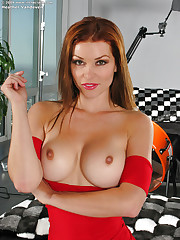 Sultry lady with huge knockers