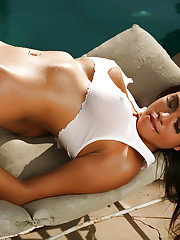 Francescas big breasts are almost visable through her wet..