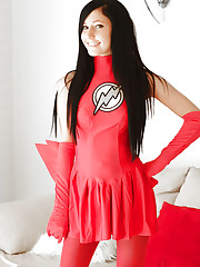 Catie Minx becomes The Flash a sexy superhero for..