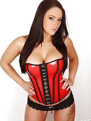 Busty Alluring Vixen Lauren Ashley teases in a super tight..