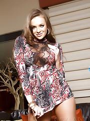 Hot busty brunette babe, Nika Noire, heats things up..
