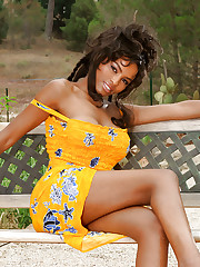Black porn model Becca Bali dose some posing