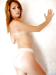 Slender body babe doing a variety of hot nude poses on..