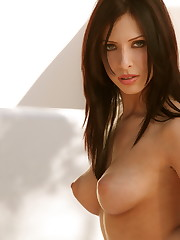 is an amazing brunette with a natural figure that screams..