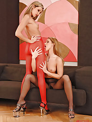 Blonde lesbians foot fetish sex