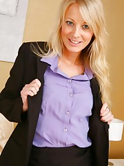 Beautiful office girl Maria S undresses in her bedroom..