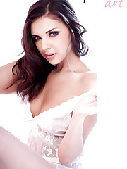 Henessy, beautiful russian model stripping in studio!