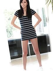 Teen camwhore Catie Minx looking sweet and innocent in a..