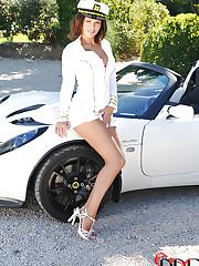 Luscious Linet posing outdoors!