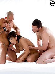 Coco Charnelle sandwiched by Mike Angelo & Ian Scott!..