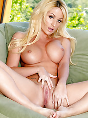 Angela Sommers strips down and shows off her big boobs and..