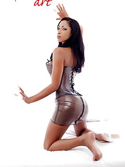 Perfect Cuban babe Katia De Lys with latex outfits..