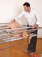 Awesome babe takes a good spanking!