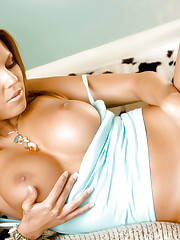 Nicole Graves feeling her soft smooth pussy