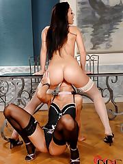 Hot babes having lusty lesbian sex!