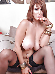 Lexy shows off her giant boobs and pussy