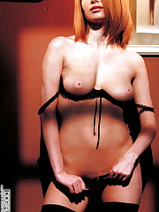 Black bra and pantys