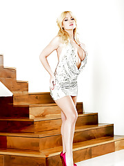 Angela Sommers strips down and shows off her pussy and..