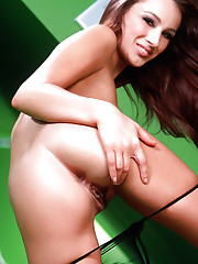 Pornstar girl Dani Woodward teasing