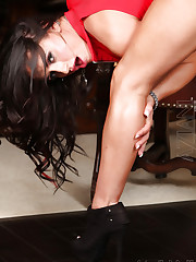 Nikki Jackson does a sexy slow striptease showing off her..