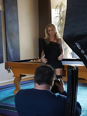 Behind the scenes with stunning busty blonde, Madison..