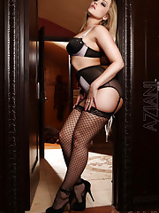 Calling all stocking and lingerie lovers, this set of the..