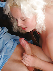 Big juggs Claire sucking and doggy fucks