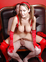 Big tits Alexis May riding on thick cock