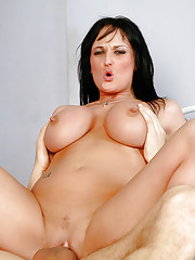 Big juggs Donna Marie sucking and riding