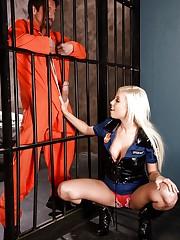 Britney sucks off the prison mate